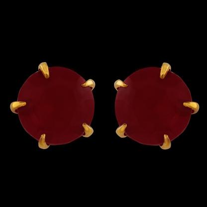1 Gram Gold American Diamond Earrings 64