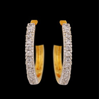 1 Gram Gold  American Diamond Earrings 68