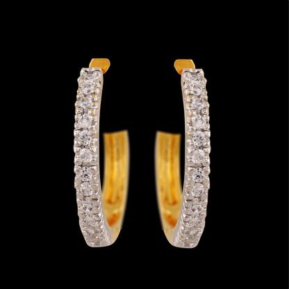 1 Gram Gold  American Diamond Earrings 68