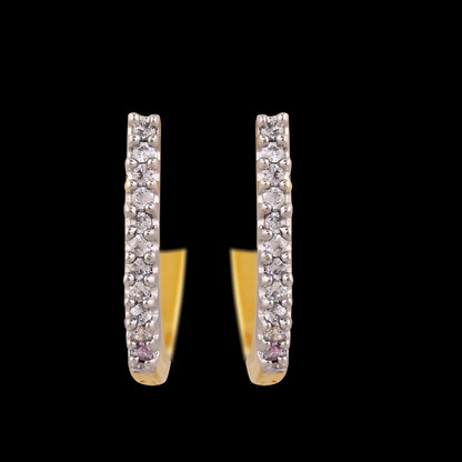1 Gram Gold  American Diamond Earrings 69