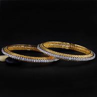 1 Gram Gold  American Diamond Bangles 47