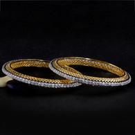 1 Gram Gold  American Diamond Bangles 48