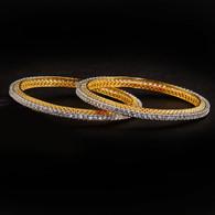 1 Gram Gold  American Diamond Bangles 54