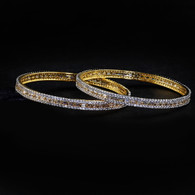 1 Gram Gold  American Diamond Bangles 57