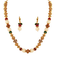 1 Gram Gold Beads Necklace Set 33