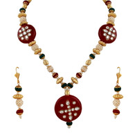 1 Gram Gold Kundan Necklace Set 41