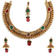1 Gram Gold RasRawa Necklace Set 44