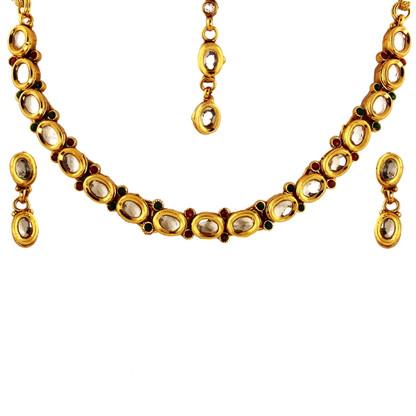 1 Gram Gold Kundan Necklace Set 45