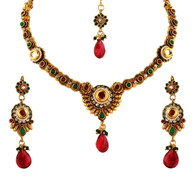 1 Gram Gold Kundan Necklace Set 46