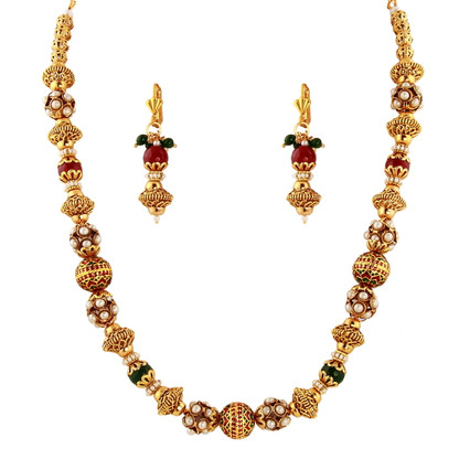 1 Gram Gold Beads Necklace Set 47