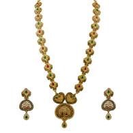 1 Gram Gold Studded Necklace Set 68