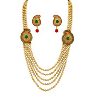1 Gram Gold Beads Necklace Set 80