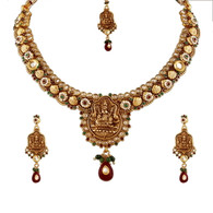 1 Gram Gold Temple Necklace Set 85
