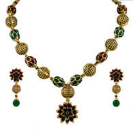 1 Gram Gold Beads Necklace Set 98