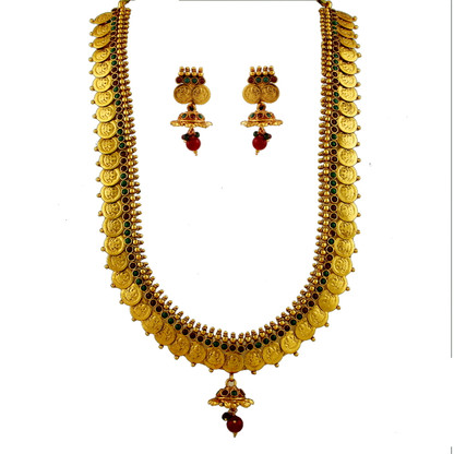 1 Gram Gold Temple Necklace Set 106