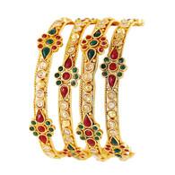 1 Gram Gold Studded Bangles 12