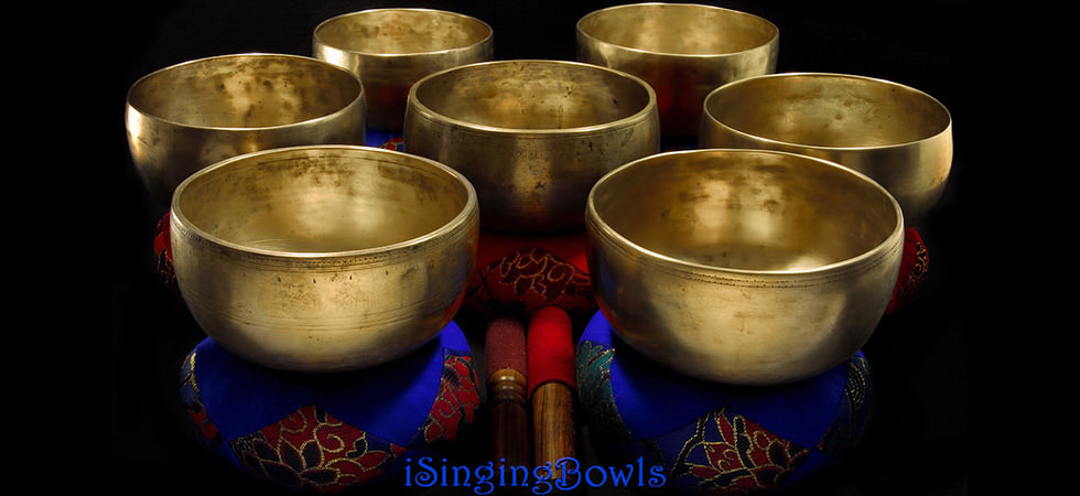 iSingingBowls singing bowl set