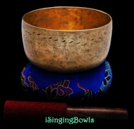 "Antique Tibetan Singing Bowl #9318 : Thado 6 3/8"", ca. 18th Century, G#3 & D5."