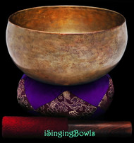 "Antique Tibetan Singing Bowl #9352 : Lotus 7 3/8"", ca. 17th Century"
