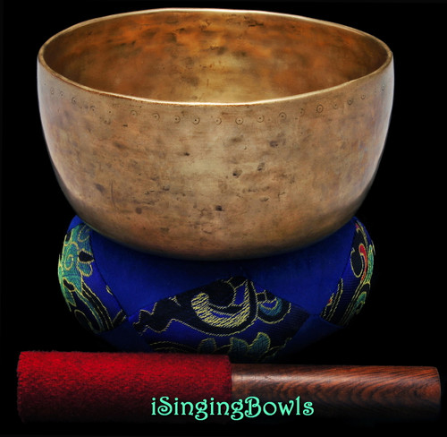 "Antique Tibetan Singing Bowl #9479 : Void 7"", ca. 18th Century"