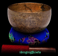 "Antique Tibetan Singing Bowl #9309 : Thado 6 7/8"", ca. 18th Century, G3 & D5."
