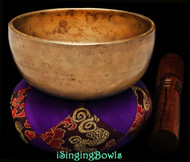 "Antique Tibetan Singing Bowl #9539 : Special Cup 5"", ca. 18th Century, A#4 & E6."