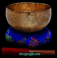 "Antique Tibetan Singing Bowl #9347: Lotus 7 1/8"", circa 18th Century, A#2 & F4"
