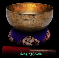 "Antique Tibetan Singing Bowl #9342 : Lotus 7 5/8"", ca. 19th Century, A#2 & F4."