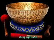 "New Tibetan Singing Bowl #9389 : HW 11 3/4"", D#2 & A#3."