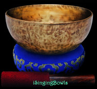 "New Tibetan Singing Bowl #9489 : Thadobati 7 7/8"", E3 & A#4."