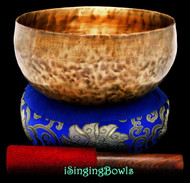 "New Tibetan Singing Bowl  #9412 : Lotus 7 3/4"", E3 & A#4 ."