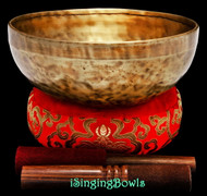 "New Tibetan Singing Bowl #9442 : HW 8 7/8"", D#3 & A4."
