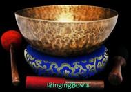 "New Tibetan Singing Bowl #9446 : HW 11 5/8"", E2 & B3."