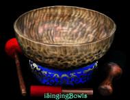 "New Tibetan Singing Bowl #9598 : HW 14 1/2"", F2 & B4."