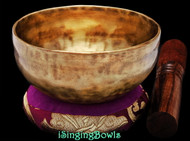 "New Tibetan Singing Bowl #9543: Cup 5"",  G4 & C#6."