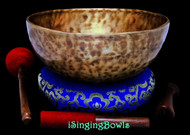 "New Tibetan Singing Bowl #9515 : HW 11 1/2"", F2 & C4."