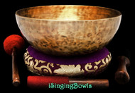 "New Tibetan Singing Bowl #9452 : HW 11 7/8"", F2 & C4."