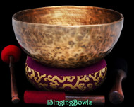 "New Tibetan Singing Bowl #9449 : HW 12"", F2 & C4."