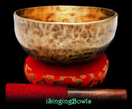 "New Tibetan Singing Bowl #9429 : Thadobati 7 3/8"", F#3 & C5."