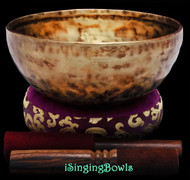 "New Tibetan Singing Bowl #9499 : HW 8 1/2"", F3 & C5."