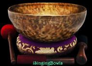 "New Tibetan Singing Bowl #9448 : HW 12 1/4"", G2 & D#4."