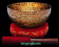 "New Tibetan Singing Bowl #9423 : Thadobati 6 7/8"", A3 & D#5."
