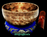 "New Tibetan Singing Bowl #9593: Cup 5 1/4"",  A4 & D#6."