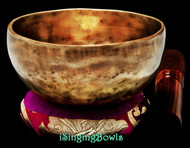 "New Tibetan Singing Bowl #9554: Cup 5 1/8"",  A4 & D#6."