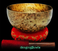 "New Tibetan Singing Bowl #9416 : Thadobati  7 1/4"", G3 & D5."