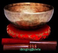 "New Tibetan Singing Bowl #9493 : Jhumka 8"", A3 & E5."