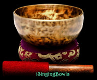 "New Tibetan Singing Bowl #9398 : Thadobati 6 5/8"", A3 & E5."