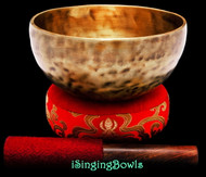 """New Tibetan Singing Bowl #9414 : Thadobati 6 7/8"""", A#3 & E5."""