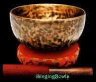 """New Tibetan Singing Bowl #9386 : Thadobati 7 1/4"""", A#3 & E5."""