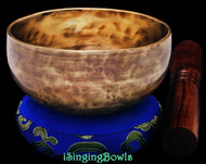 "New Tibetan Singing Bowl #9591: Cup 4 3/4"",  B4 & E6."